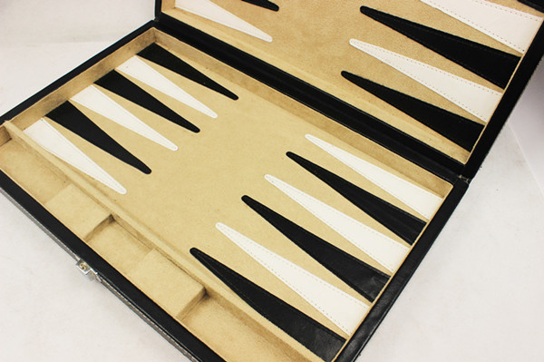Custom Matte Paint Lacquer Backgammon Box Game Travel