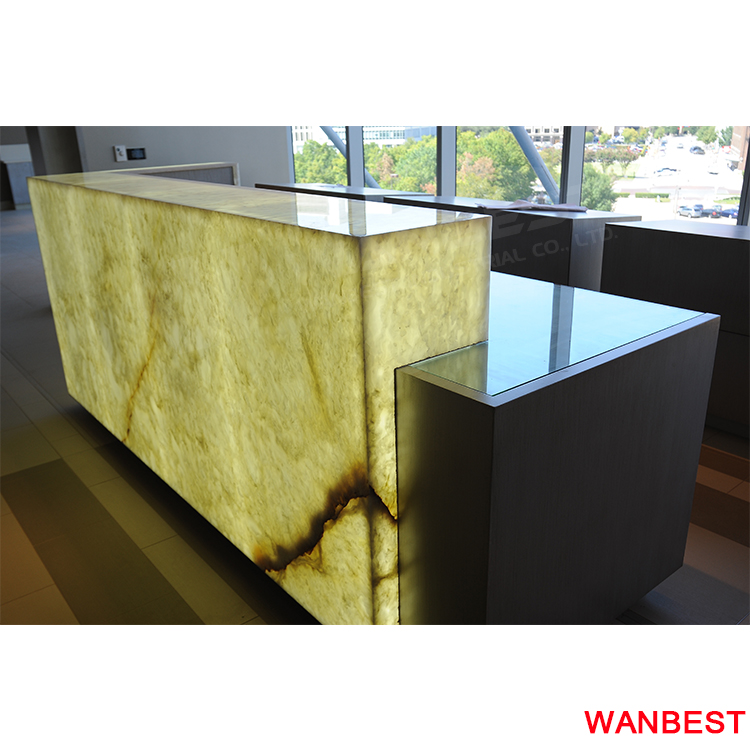 Customized Marble Office Reception Counter Salon Hotel Gym Front Desk Design