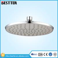 Bathroom high pressure TPR material rainfall chrome shower head