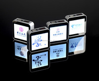 High end promotion gift powerbank usb charger with 40 pages auto sliding LED advertising poster, custom logo available