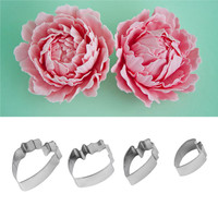 4pcs Flower Making Accessories Stainless Steel Paste Floral Petal cake Cutter Mold wedding flower sugar
