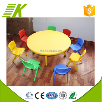 Home Use Used Preschool Tables And Chairs Kids Study Table Plastic