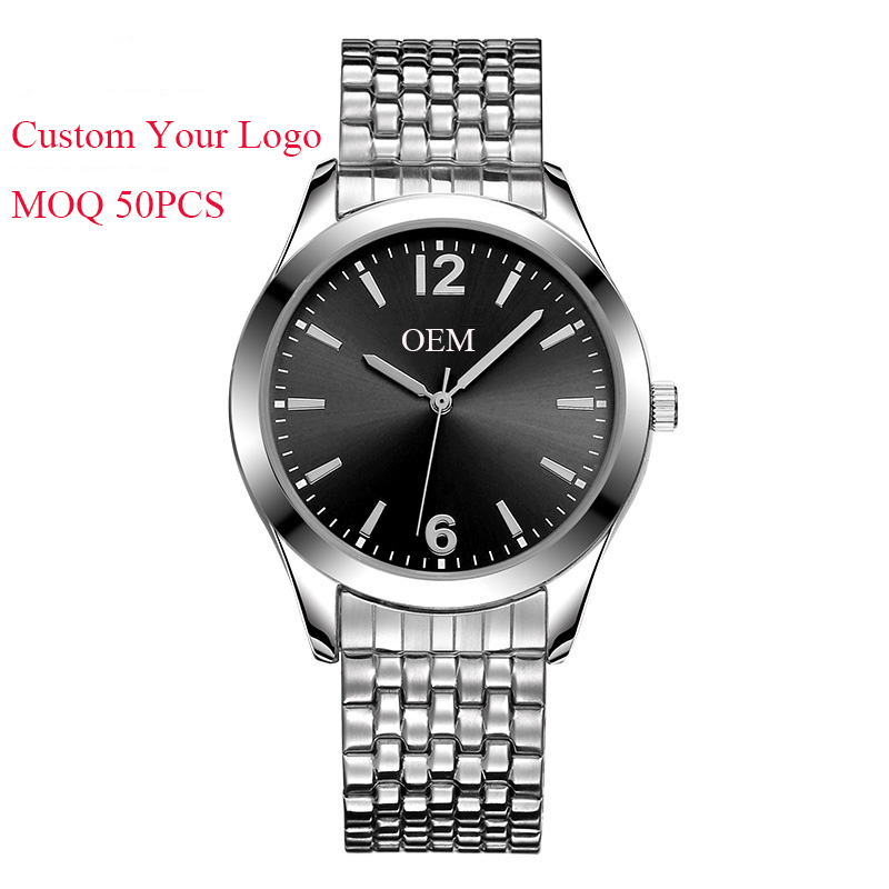 Custom Brand New Build Watch Mens Stainless Steel Japan Quartz Movt Private Label Watch
