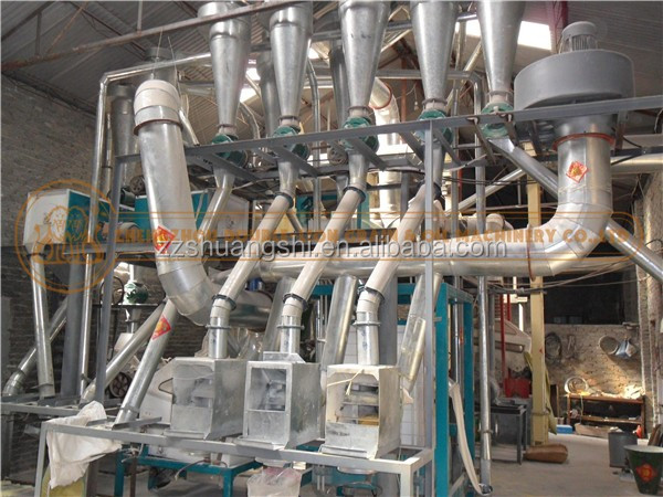 20 ton per day multifunctional maize wheat low price flour mill plant