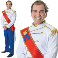 Adult Medieval Royal Prince Charming Costume Men Fancy Dress Outfit New AC5171