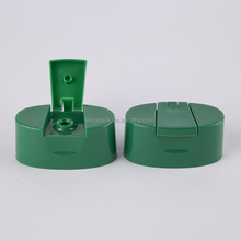Green Color Plastic Flip Top Hair Shampoo Square Cap For Bottle