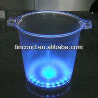 Plastic LED Ice Bucket with stand wholesale