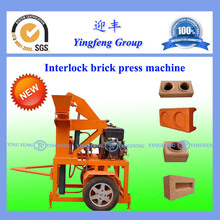 New technology product in china YF1-20 interlocking brick machine
