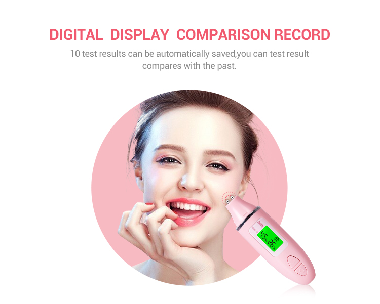 Lcd display digital uv facial reveal imager handheld skin analysis device with moisture meter