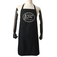 High Quality Black Printing Professional Chef Apron Kitchen Baking Adjustable Apron