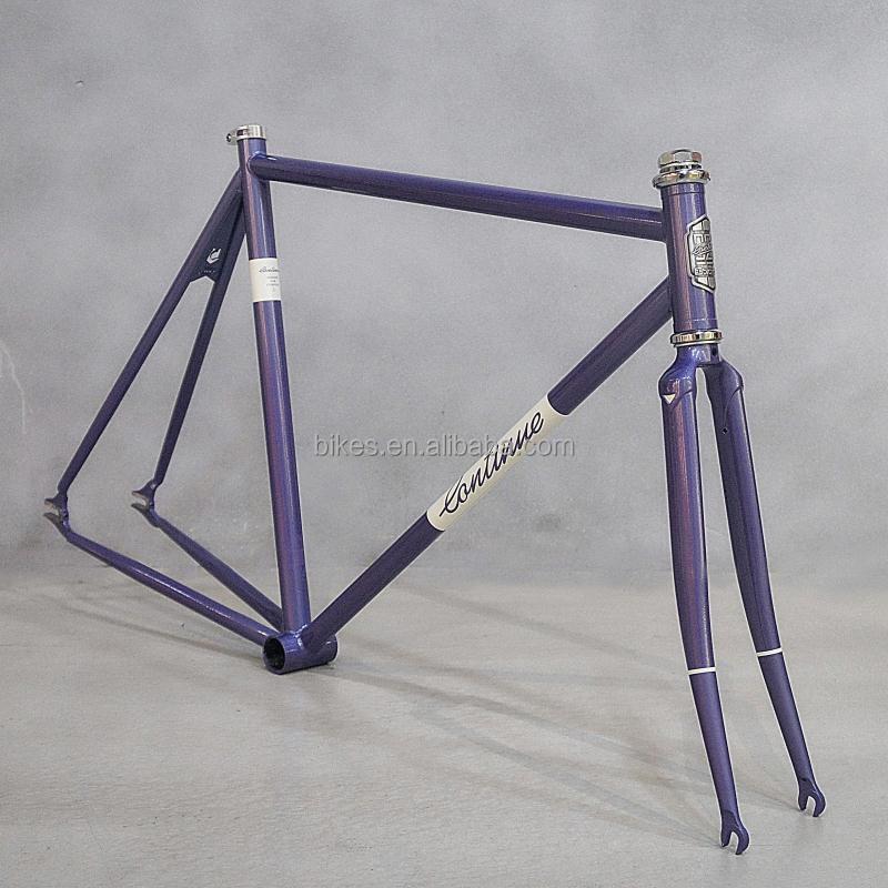 Cromado marco 700C fixie Road bike bicicleta de acero al cromo ...