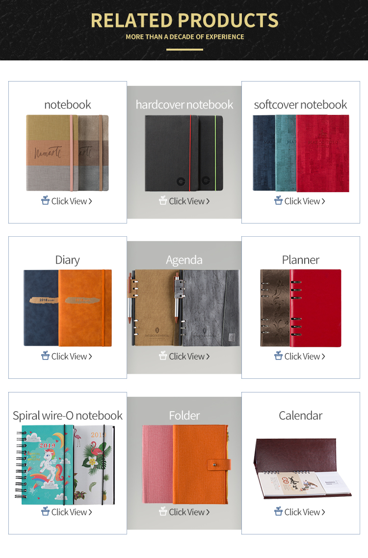 Cheap wholesale top quality plain designer thick notebook