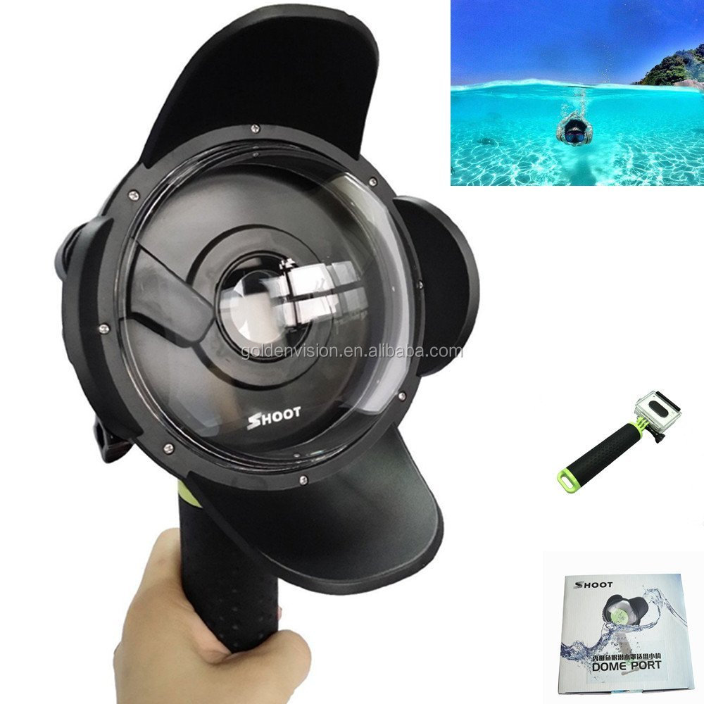 Transparent Diving Underwater Dome Port Lens Camera Housing Case Photography for Xiaomi Yi