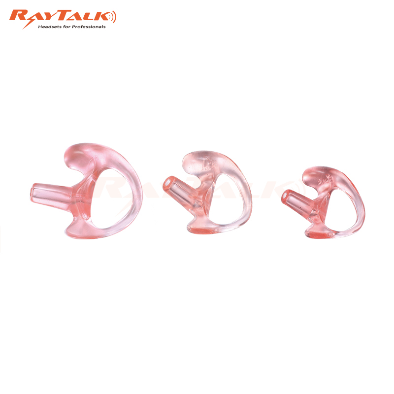 GEL EAR MOLD INSERTS FOR ACOUSTIC TUBE 2WAY RADIO EARTIP 2 CLEAR LEFT LARGE