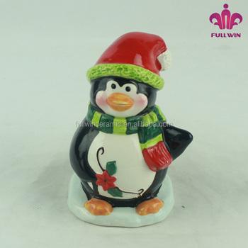 Ceramic Penguin Christmas Decoration