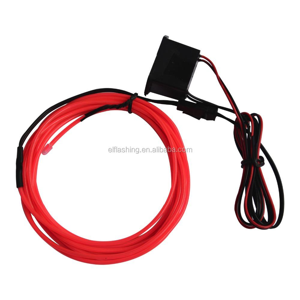 High Brightness El Wire With 12v Adpater El Wire Factory - Buy El ...