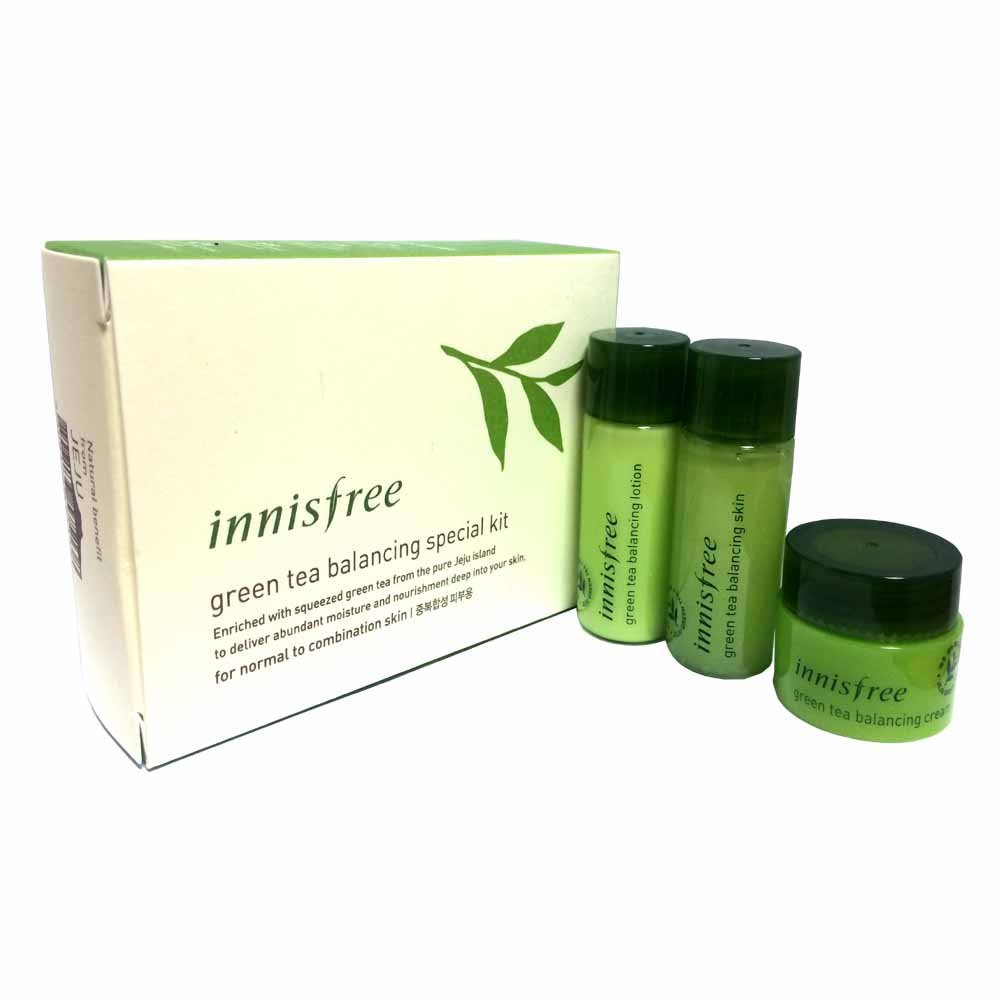 Cheap Drinking Green Tea Skin Find Deals On Innisfree Balancing Special Kit 4 Items Get Quotations 15ml Lotion Cream 5ml
