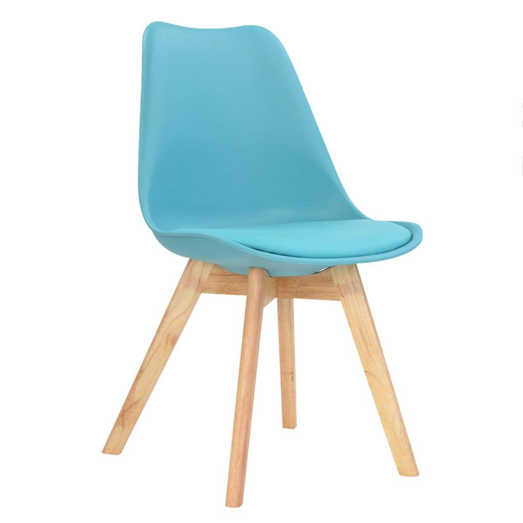 LQQFF Solid Wood Dining Chair, Home Leisure Chair, backrest Chair, Conference Office Computer Chair. - Dining Chair (Color : Blue)