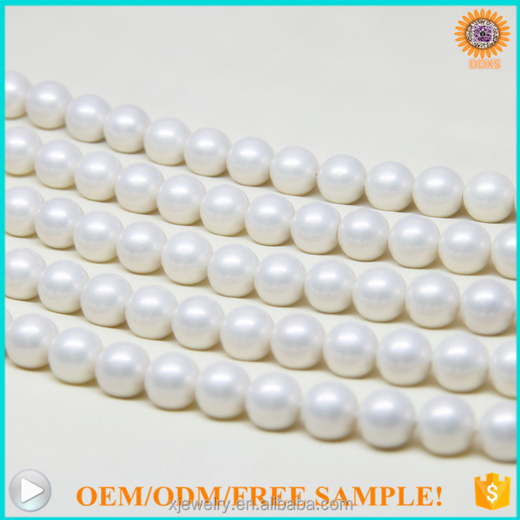 wholesale loose faux sea shell pearl strand