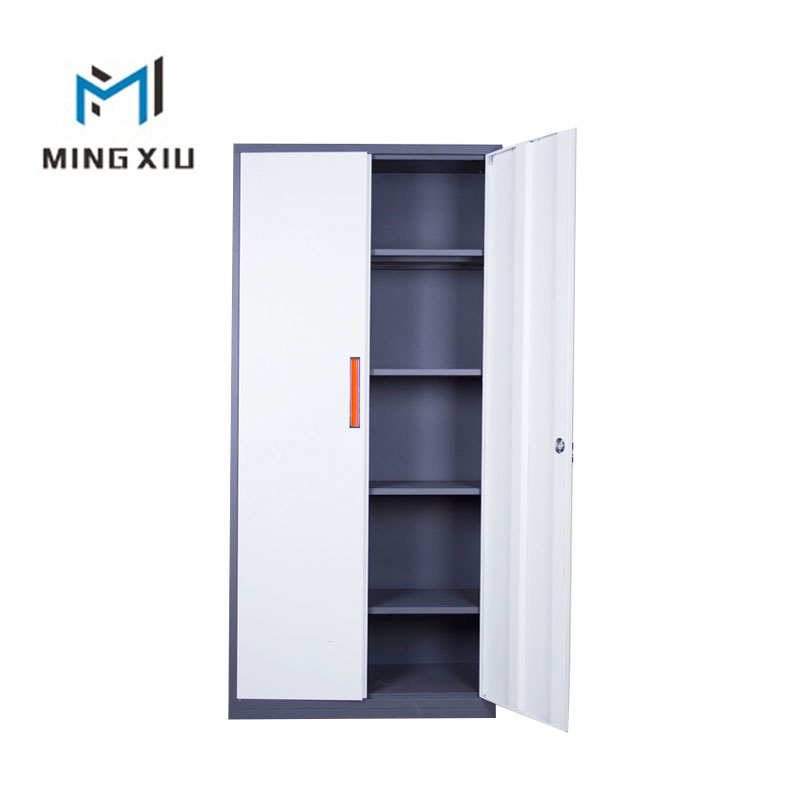 China low price steel 2 swing door filing cabinet / metal storage cabinets