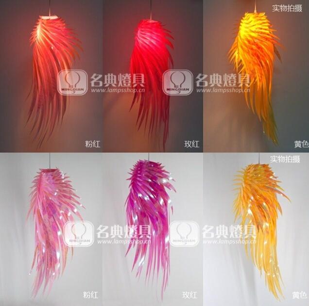 acheter romantique ange ailes lustre lumi re plume lustre cr ative pendentif. Black Bedroom Furniture Sets. Home Design Ideas