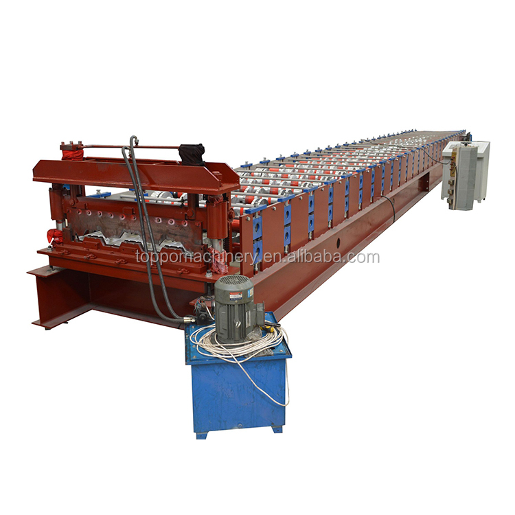 Galvanized steel structural floor decking cold roll forming machine