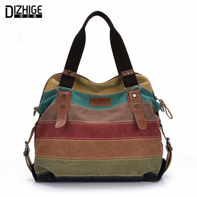 canvas bag tote striped women handbags patchwork women shoulder bag new fashion sac a main femme. Black Bedroom Furniture Sets. Home Design Ideas