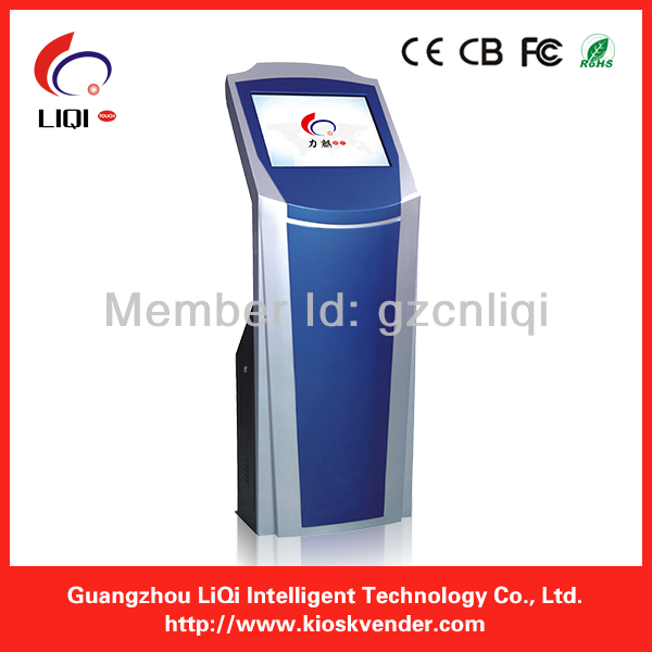 Self-service Bill Acceptor Ticket Printer Touch Screen Kiosk, automatic payment terminal