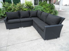 popular L shape rattan sofa for living room