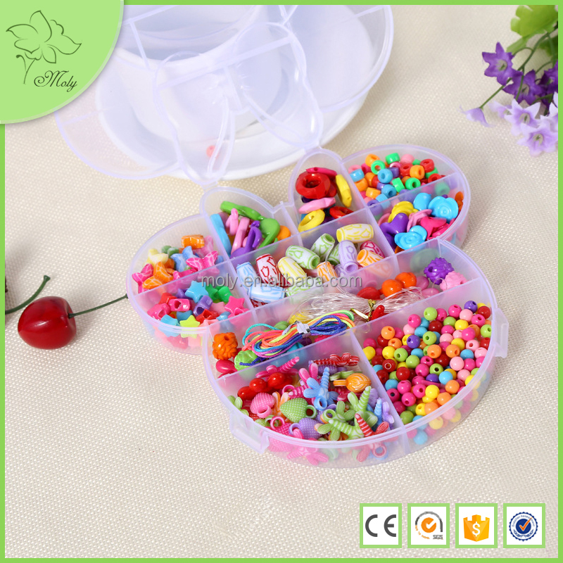 Friendship Bracelets Craft Kit Sparkle Shell Diy Beads for Children for Crafts and Jewellery Making