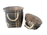 Shantou Home Products foldable high-end home canvas storage basket