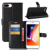 Business Book Wallet Pu Leather Case Cover With Stand For Apple iPhone 8 Plus