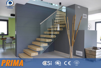 Modern Interior Standoff Glass Handrail For Wood Stairs - Buy ...