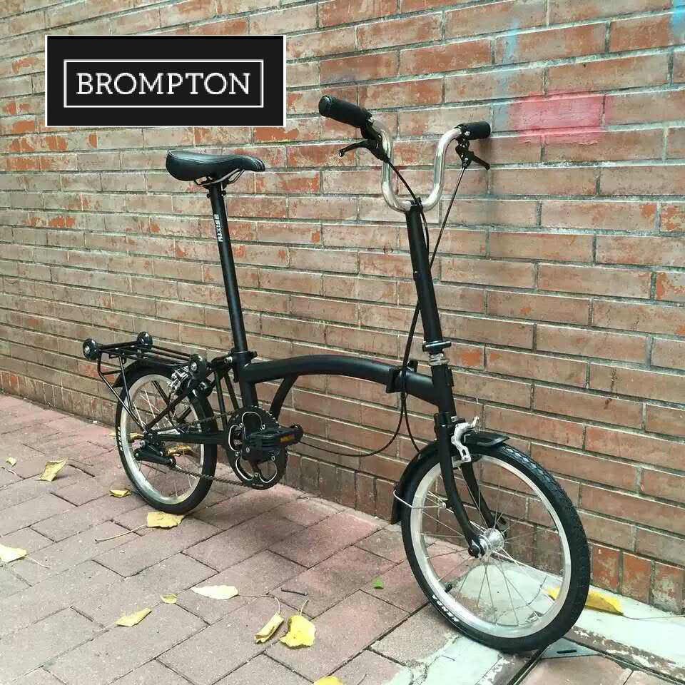 "BROMPTON foldable bike M3L Raw Lacquer 2017 16"" folding <strong>Bicycle</strong>"