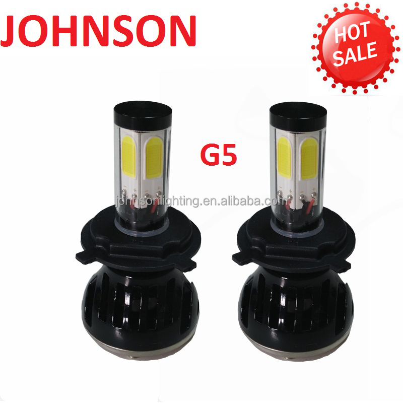 JOHNSON g5 h4 high power led headlight 56w 5000 lumen h7 led headlight xenon hid kit h5 hid car lights replacement 12v 24v 6000k