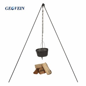 Heavy Duty Cast Iron Camp Fire Tripod Perfect for Cooking on Fire