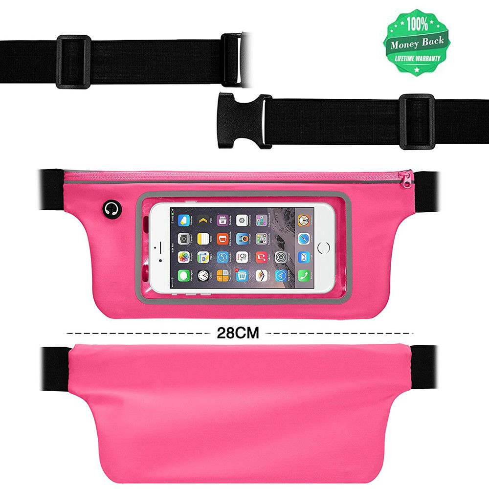Fashion Neoprene Waterproof Running Waist Bag Mobile Phone Belt Pouch