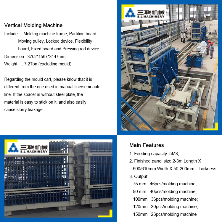 Molding machine for wall panel