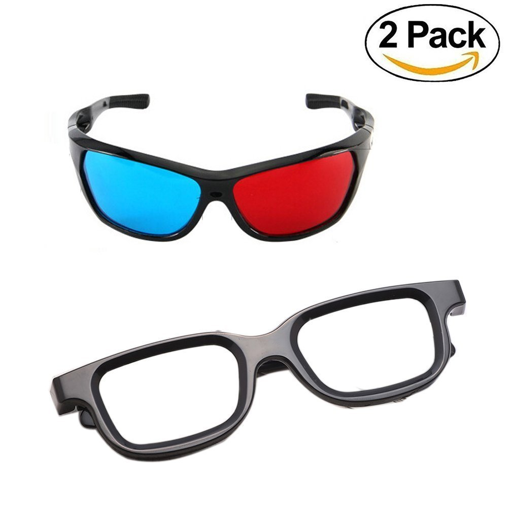 NiceWave 3D Glasses Direct-3D Glasses - Made To Fit Over Prescription Glasses