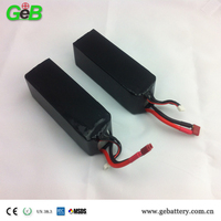 22.2V 2200mAh 35C RC plane battery pack, 35C rate auto batteries