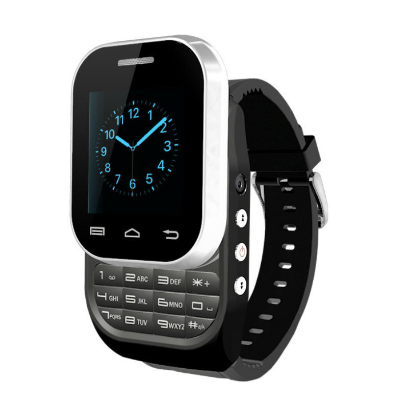 Wholesale Price KEN XIN DA Manufacture W1 Dual SIM Card Wrist Watch Phone (Black)