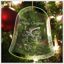Merry Christmas (gorilla Glass) 초롱 꽃속 Ornament 대 한 Flying Angel <span class=keywords><strong>새</strong></span>겨진