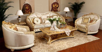 Royal Italian Style Handmade Wood Carving Sofa Set Clical Luxury Living Room Couches Bf11 11233a Furniture Golden