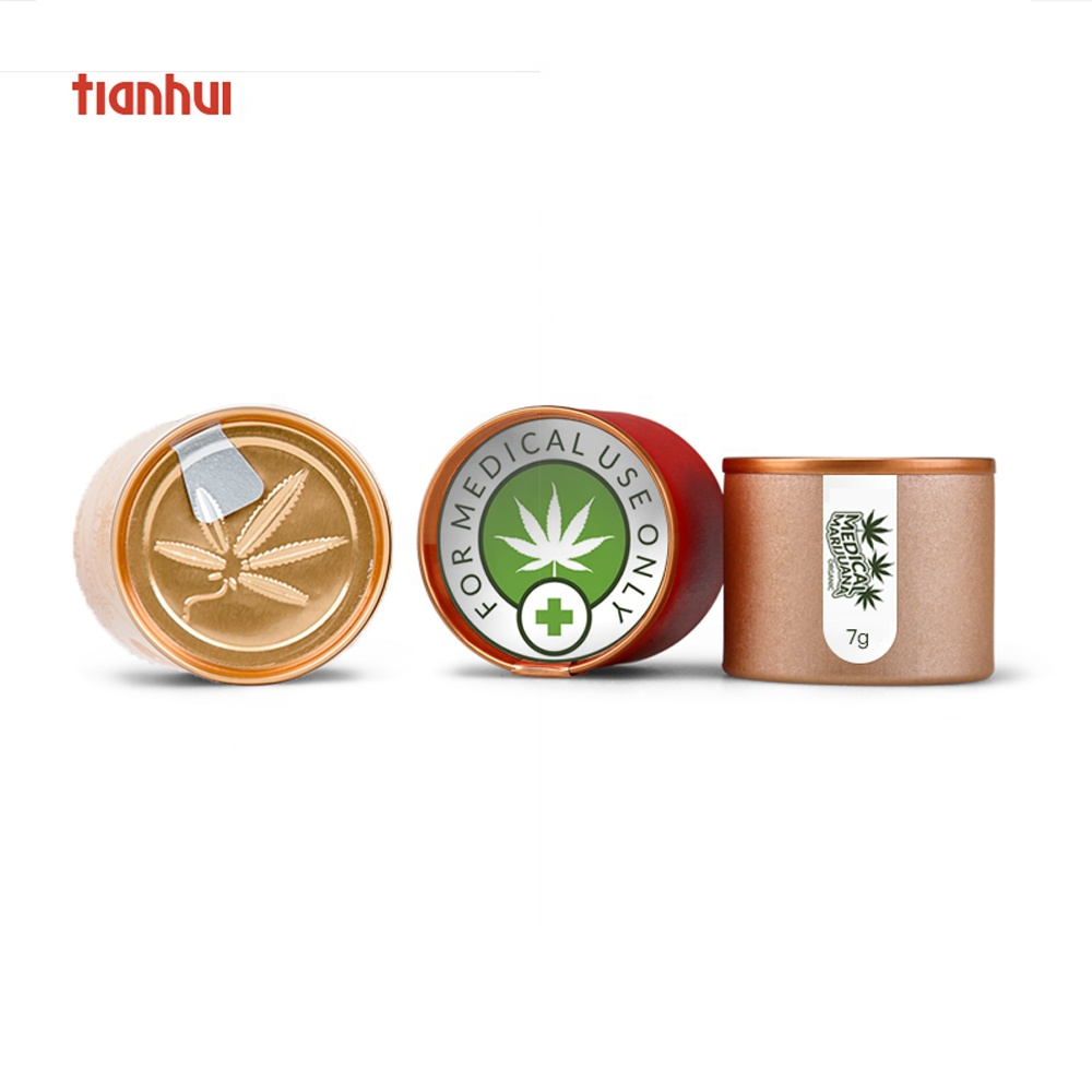 Medical Herb Small Storage Jar Smell Proof Pop Top Weed Container