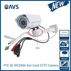 3G Wireless Sim Card Slot Inside CCTV PTZ IP 720P Bullet Camera with SD Card Recording