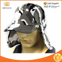 Boonie Fishing Hiking Army Military Ear Flap Snap Bucket Sun Hat With Neck Cover