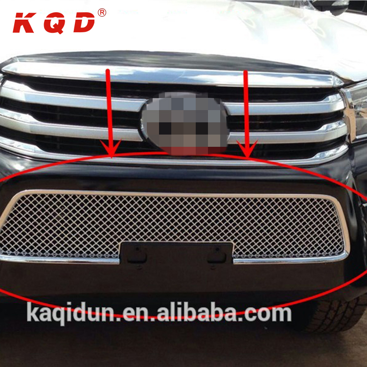 New products car decoration accessories ABS black / chrome front grill guard for HILUX REVO