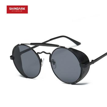 5c28b1e188 2017 Steampunk Redondo De Diseño Vintage Gafas De Sol - Buy Gafas De ...