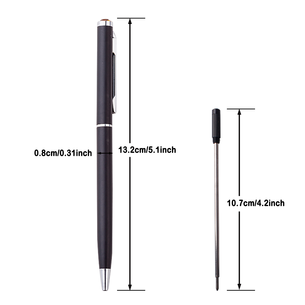 Wholesale product promotional metal ball pen with custom print logo for festival gift metal ball point pen slim
