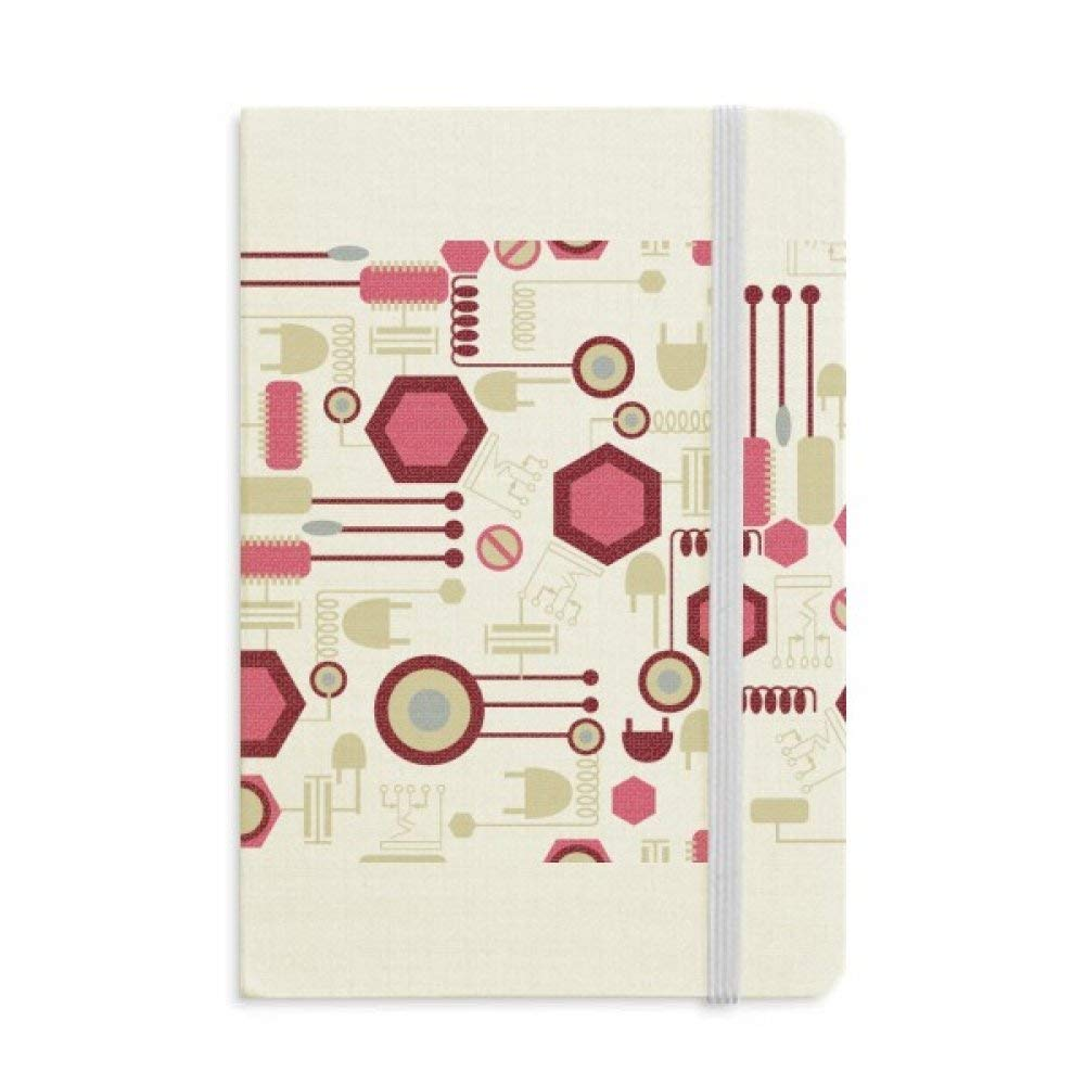 Socket Plug Circuit Diagram Pattern Classic Notebooks Fabric Hard Cover Office Work Gift